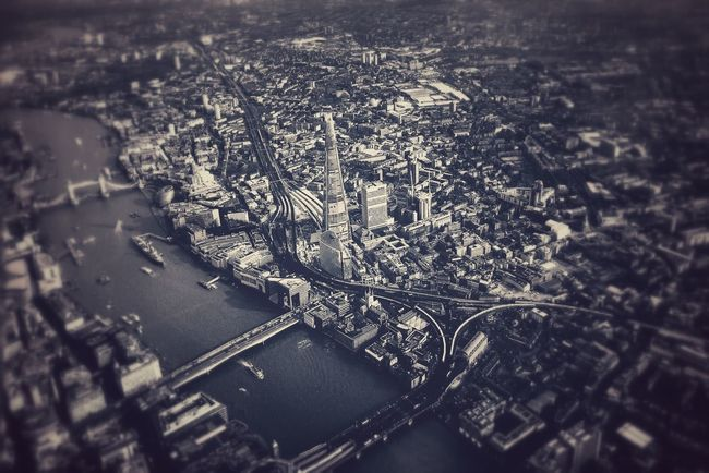 Over the Thames on the way to London City Airport