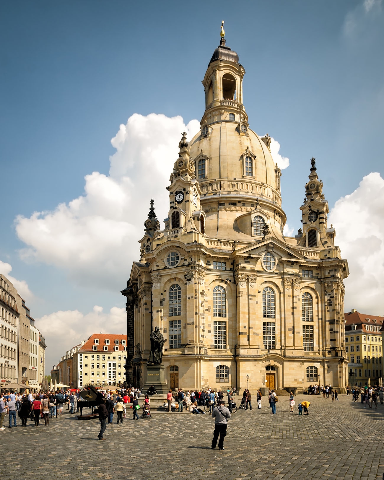 Frauenkirche Dresden Architecture Building Exterior Business Finance And Industry Church Cityscape Day Dome Frauenkirche Dresden Large Group Of People Outdoors People Religion Sky Spirituality Travel Destinations