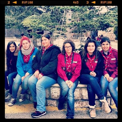 Scouts at Harissa Camp Girls