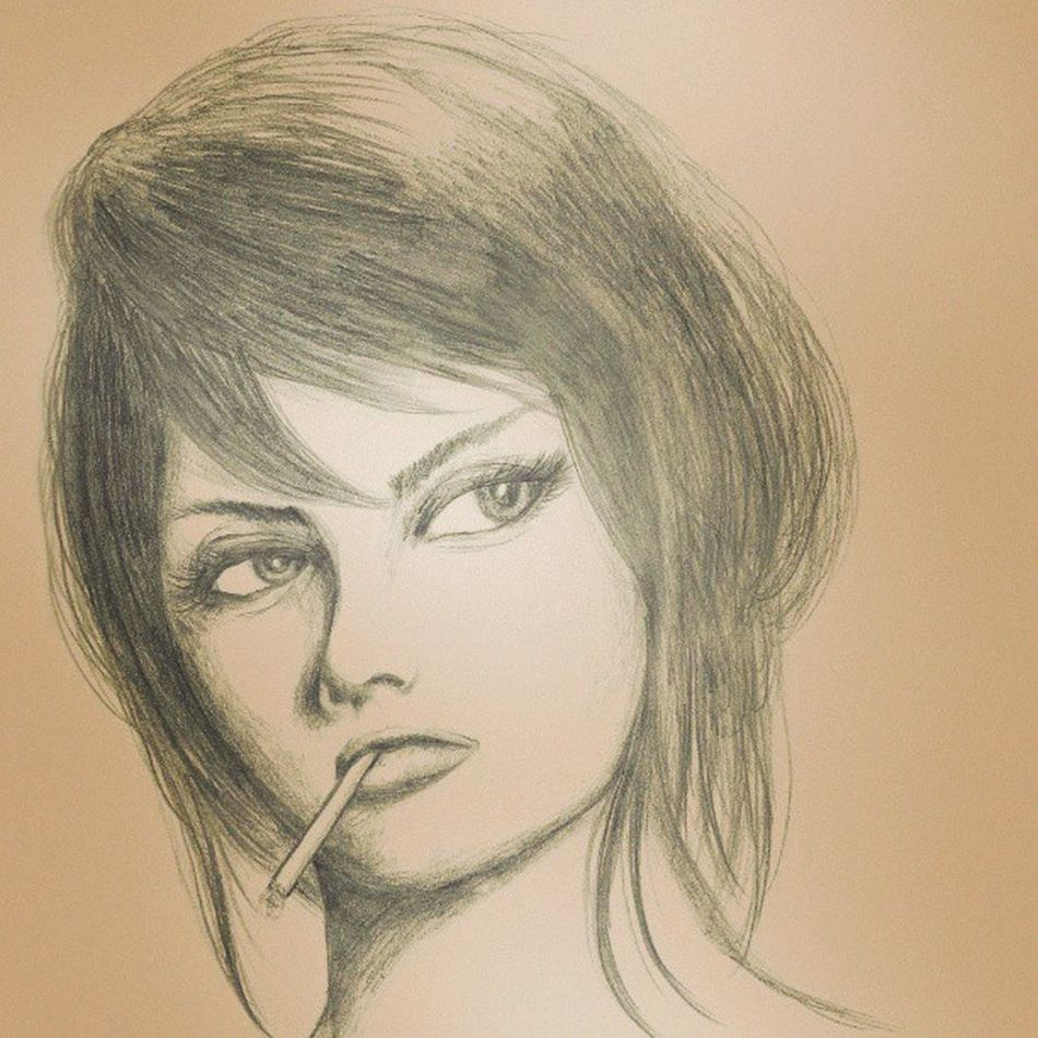Sophia Loren by Sharp Pencil HB 0.5mm. Art MOVIE Cinema Illustration Actress Sophialoren Pencilillustration