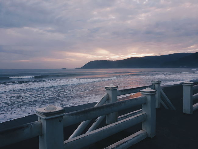 Pacific Ocean EyeEmNewHere VSCO Vscocam Vscogood Sunset Bridge - Man Made Structure Sea Beach Landscape Outdoors Scenics Sky No People Architecture Travel Destinations Mountain Water Horizon Over Water Nature