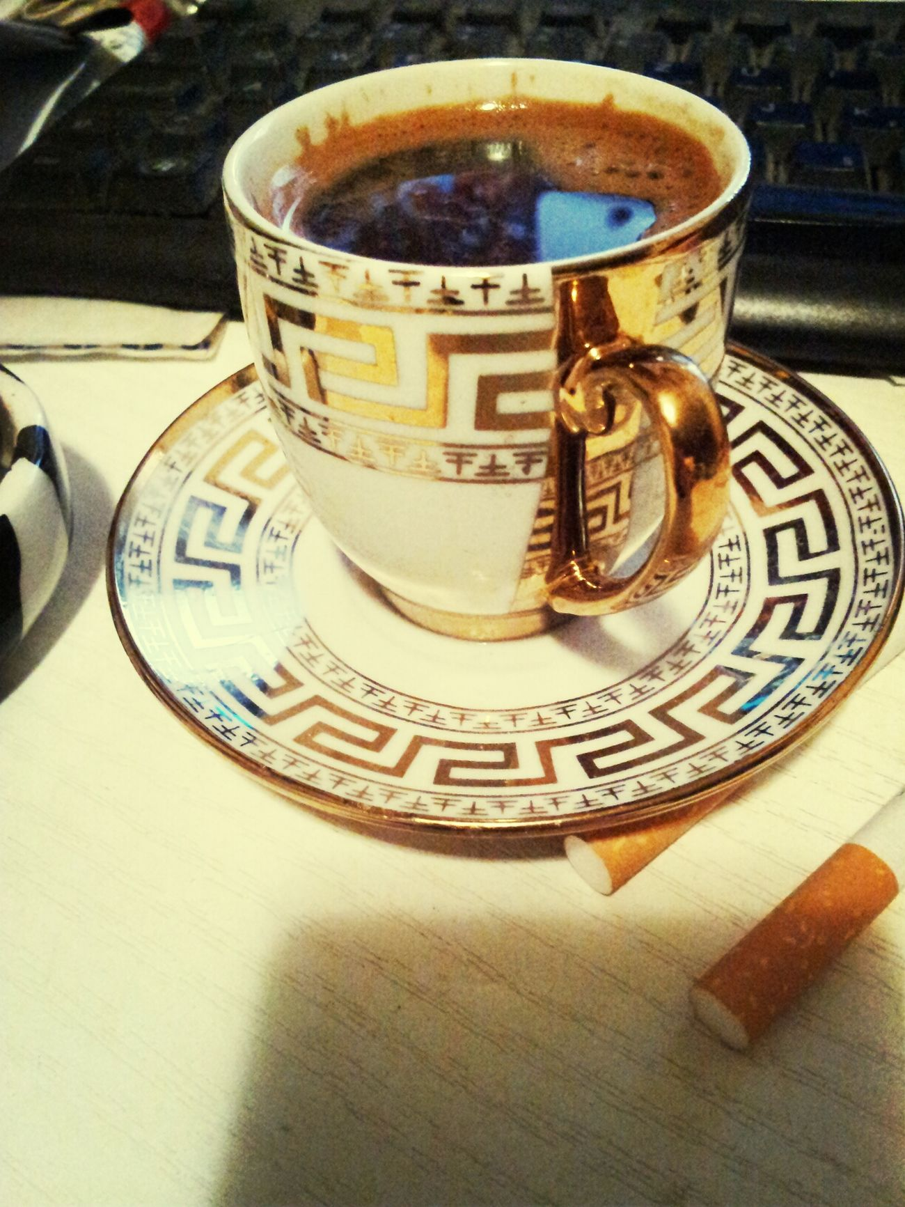 Coffee And Cigarettes Morning Ritual Greek Meander Greek Key
