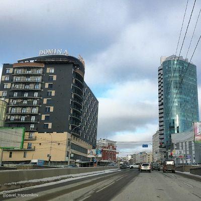 20141109 , Россия , Новосибирск , ПроспектДимитрова . Городская архитектура / Russia, Novosibirsk. Architecture of city.