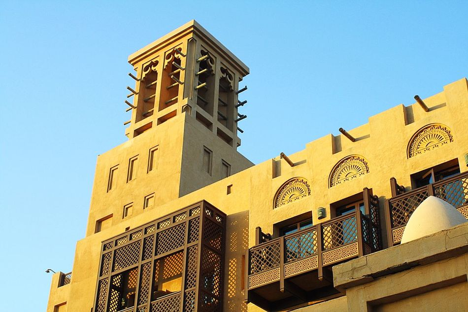 Low Angle View Architecture Building Exterior Built Structure No People Clear Sky Dubai Madinatjumeirah EyeEmNewHere The Secret Spaces Break The Mold