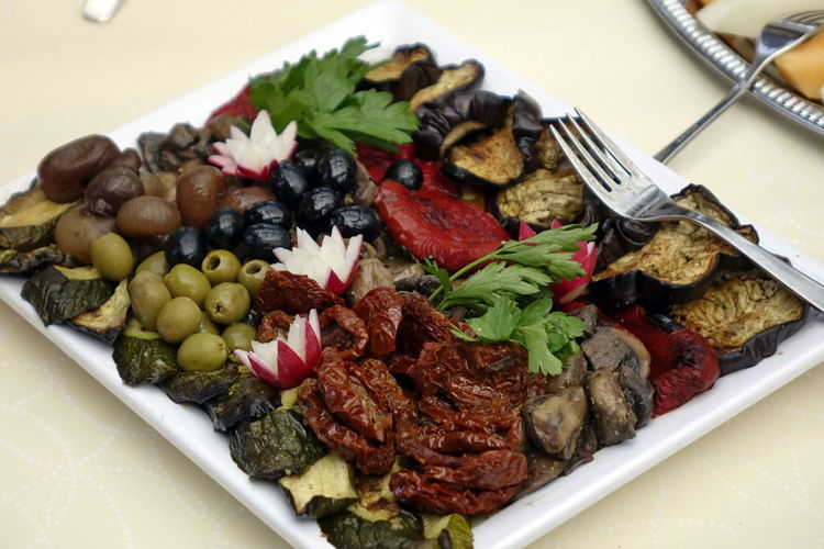 Antipasti Catering Food Close-up Day Food Food And Drink Freshness Healthy Eating High Angle View Indoors  Italian Food No People Olive Plate Ready-to-eat