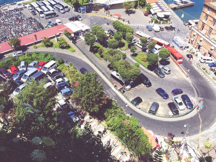 Transportation High Angle View Mode Of Transport Street Road City Land Vehicle Aerial View Multi Colored Outdoors City Life Geometric Shape Vehicle Spirit Of Italy