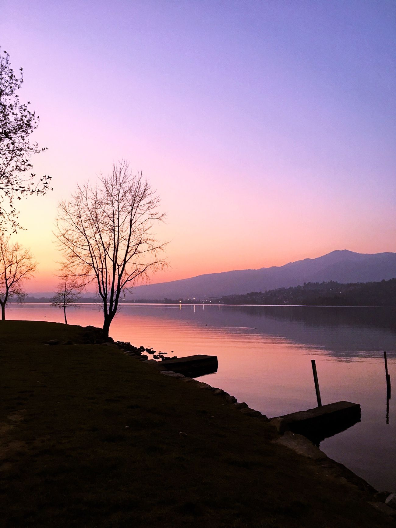 Sweet evening. Nature Outdoors Tree Sky Horizon Over Water No People Tranquil Scene Beauty In Nature Silhouette Lake Water Reflection Cold Temperature Colors Scenics Sunset Landscape From My Point Of View Week On Eyeem in Brianza