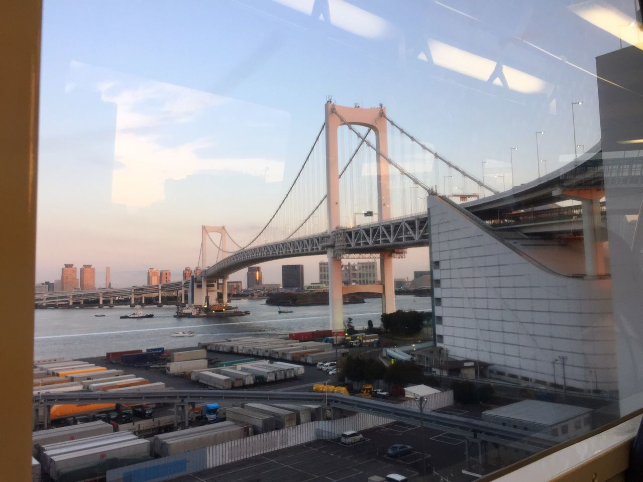 Taking Photos Tokyo Travel Trip Traveling Metro Subway Train From My Point Of View Window View Reflection Bridge Sunset IPhoneography