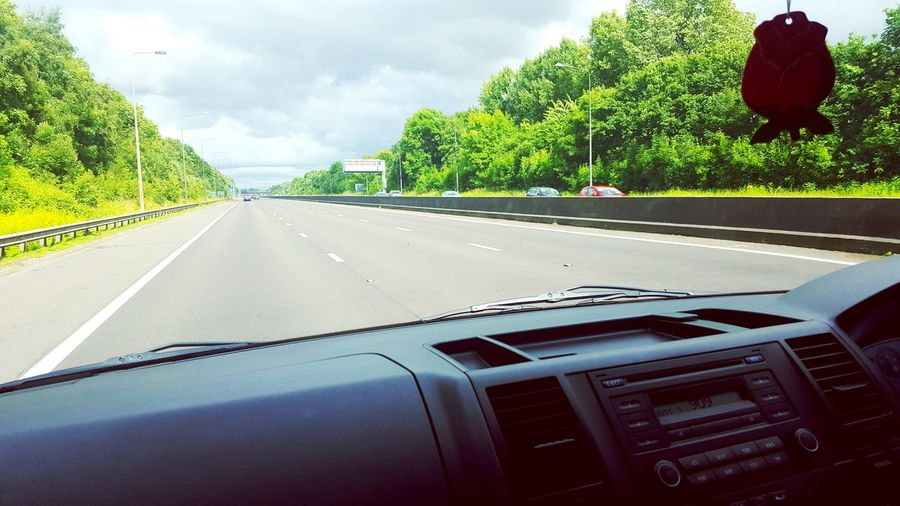 This Is Perspective day 10. Different Perspective Listening To The Radio On The Road Wimbledon2016 Wimbledon Final Cloudy Skies Motorway