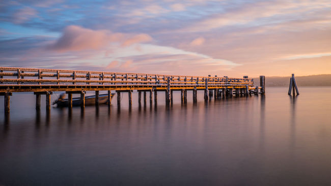 peaceful morning Architecture Atmosphere Beauty In Nature Built Structure Calm Cloud Connection Dusk Idyllic Majestic Moody Sky Nature Non-urban Scene Ocean Reflection Scenics Sea Seascape Sky Standing Water Sunset Tranquil Scene Tranquility Water Waterfront