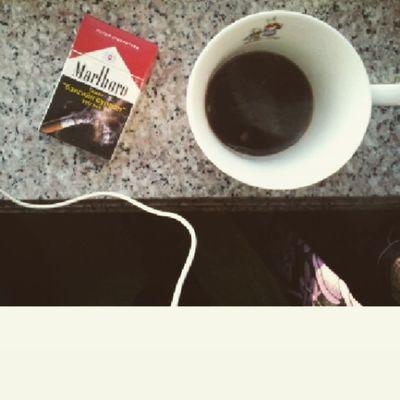 Good Morning Black Coffee and MarlBoro smoking drinking listening Honne warmonacoldnight