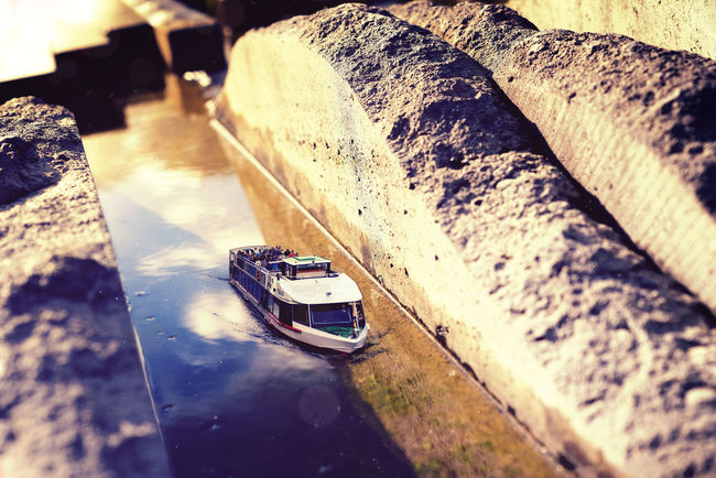 Sightseeing A journey through the small world of the overlooked Autumn Bokeh Bright Building Exterior Colorful Colors Day Depht Of Field Light Miniature No People Outdoors Reflection Standing Water Stone Stone Material Sun Sunset Tilt-shift Tiltshift Tranquility Water