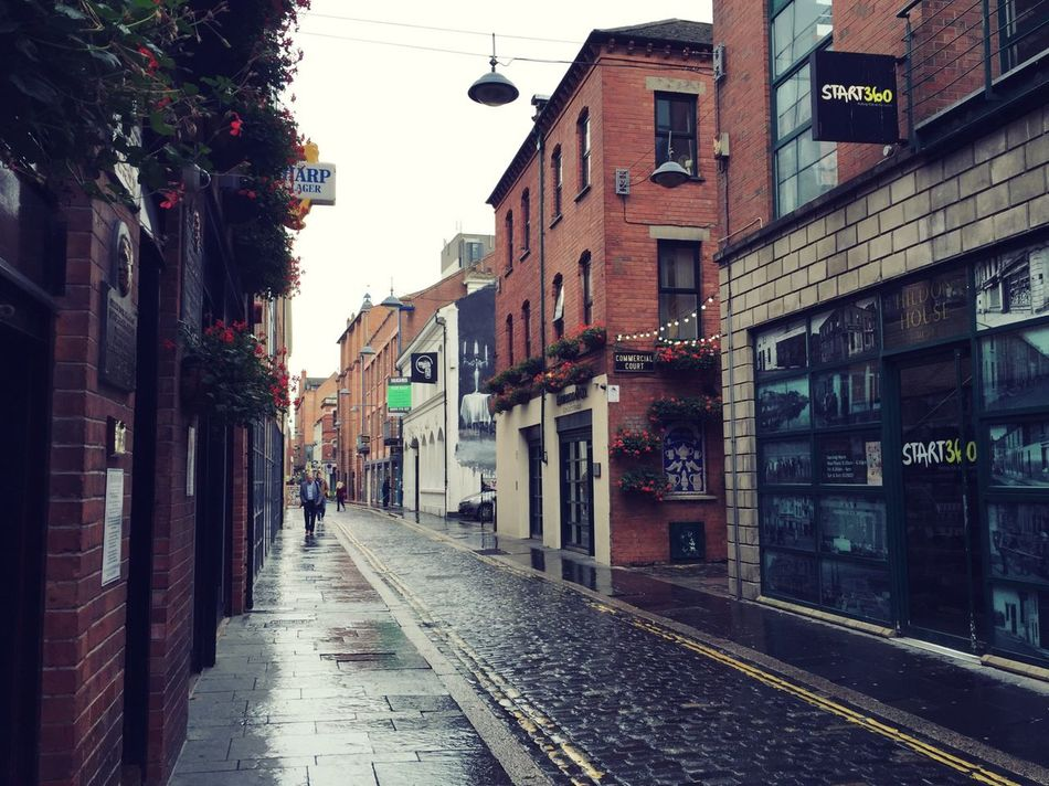 Streets of Belfast, still. Northern Ireland Belfast Commercial Centre  Road Street Brick Brick Building Rain Rainy Days Empty Wet Architecture Narrow City Life City Historic Old Buildings Old Town Autumn Weather