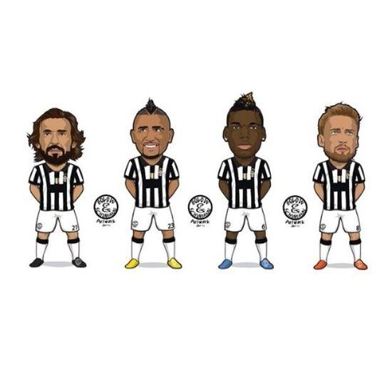 Tuyến giữa siêu đẳg Juve Pirlo Pogba Vidal marchisio