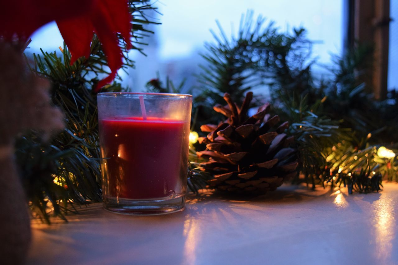 Candke Christmas Christmas Decorations Christmas Lights Christmastime Decoration Garland Red Shiny