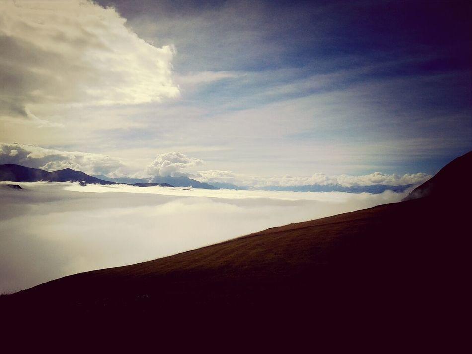 Nebeldecke über Chur Earlgrey Filter Clouds And Sky