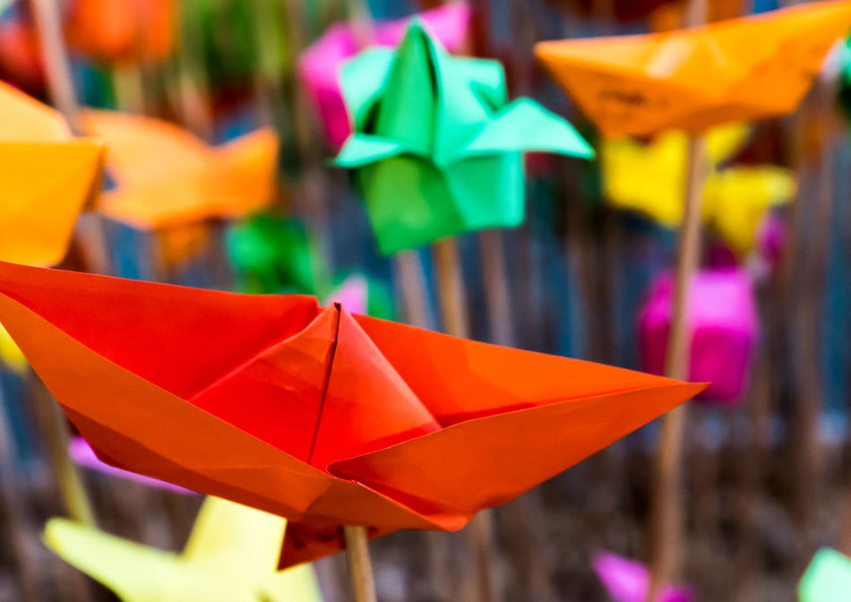 Boat Close-up Colorful Colors Day Focus On Foreground Multi Colored Multicolors  No People Origami Origamiart Outdoors Paper Paper Art Ship Art Is Everywhere