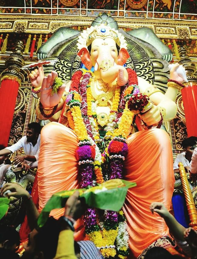 Religion Multi Colored Ganeshfestival Ganesha Idols Hindu GoddessSpirituality Spiritual Place