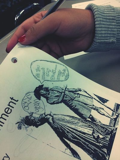 what this girl draws...all bored in class