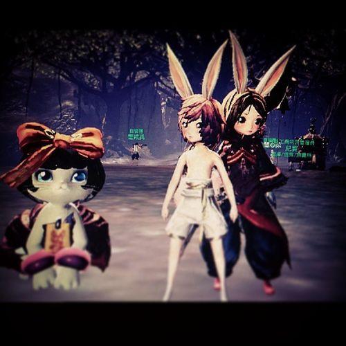 大兔子帶小兔子。劍靈 萬夫莫敵 柒樂 朴果果 Bladeandsoul BnS taiwan taichung taoyuan SquarePic