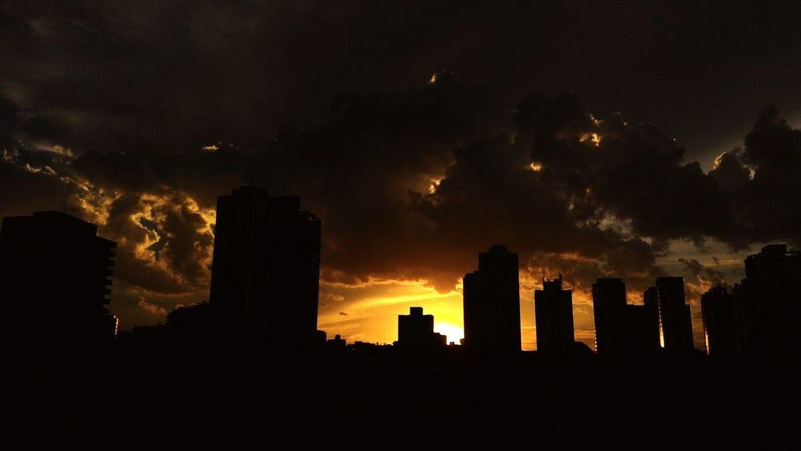 Fim de tarde em São Paulo... Silhouette Cityscape Sunset City Tower No People Outdoors Urban Skyline Sky