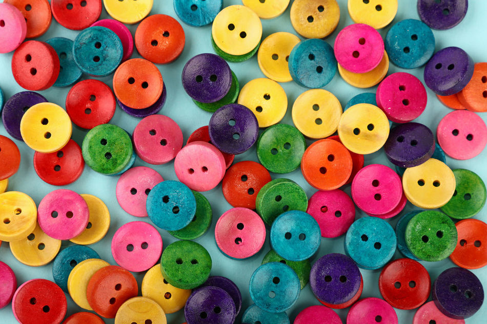 Colorful painted wooden buttons background, close up Accessory Accessory Shop Background Button Buttons Choice Close-up Colorful Creativity Cute Decoration Design Hand Made Handmade Happy Large Group Of Objects Marketplace Multi Colored Multicolored Painted Sewing Store Variation Wood - Material Wooden