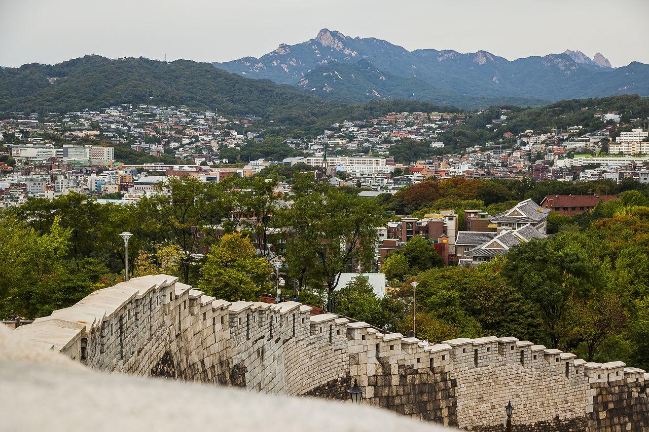 Naksan Park Hanyang Protection Wall Haewhadong Seoul Korea Stone Wall