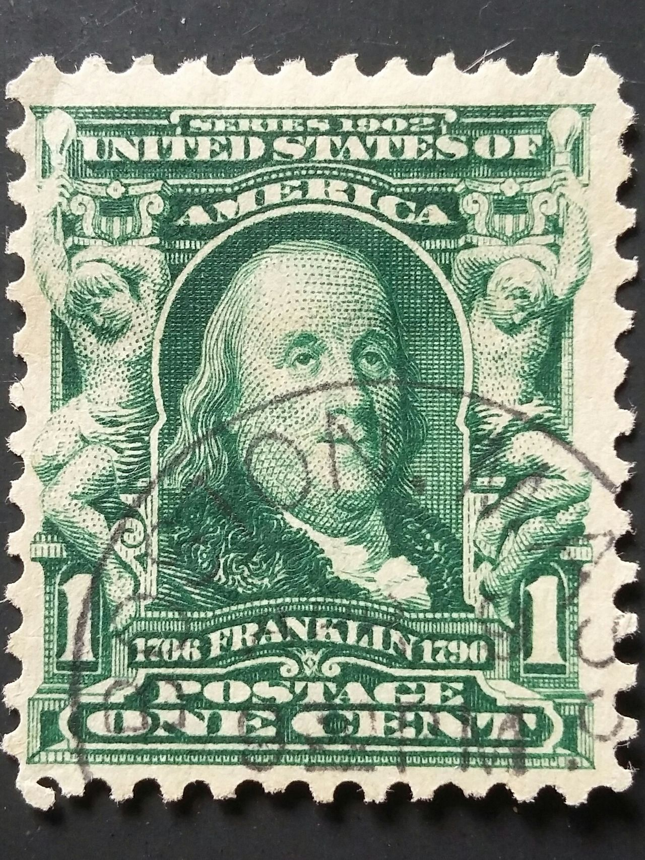 US Boston Postage Stamp Overprint Massachusetts One Cent Benjamin Franklin Postage Stamps Green Color Royal Person People Communication Business Finance And Industry Commemorate Stamp Politics And Government Collections Old-fashioned Collectibles Paper Human Body Part One Person Nikonphotography Creativity