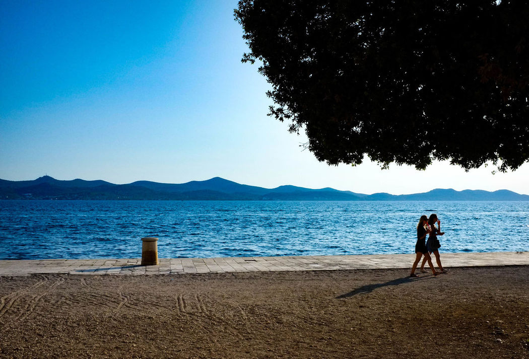 Beauty In Nature Lifestyles Mountain Promanade Riviera Sky Tranquil Scene Tranquility Water Zadar Croatia