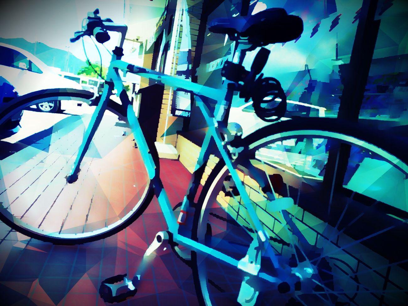 My bike is cool Enjoying Life