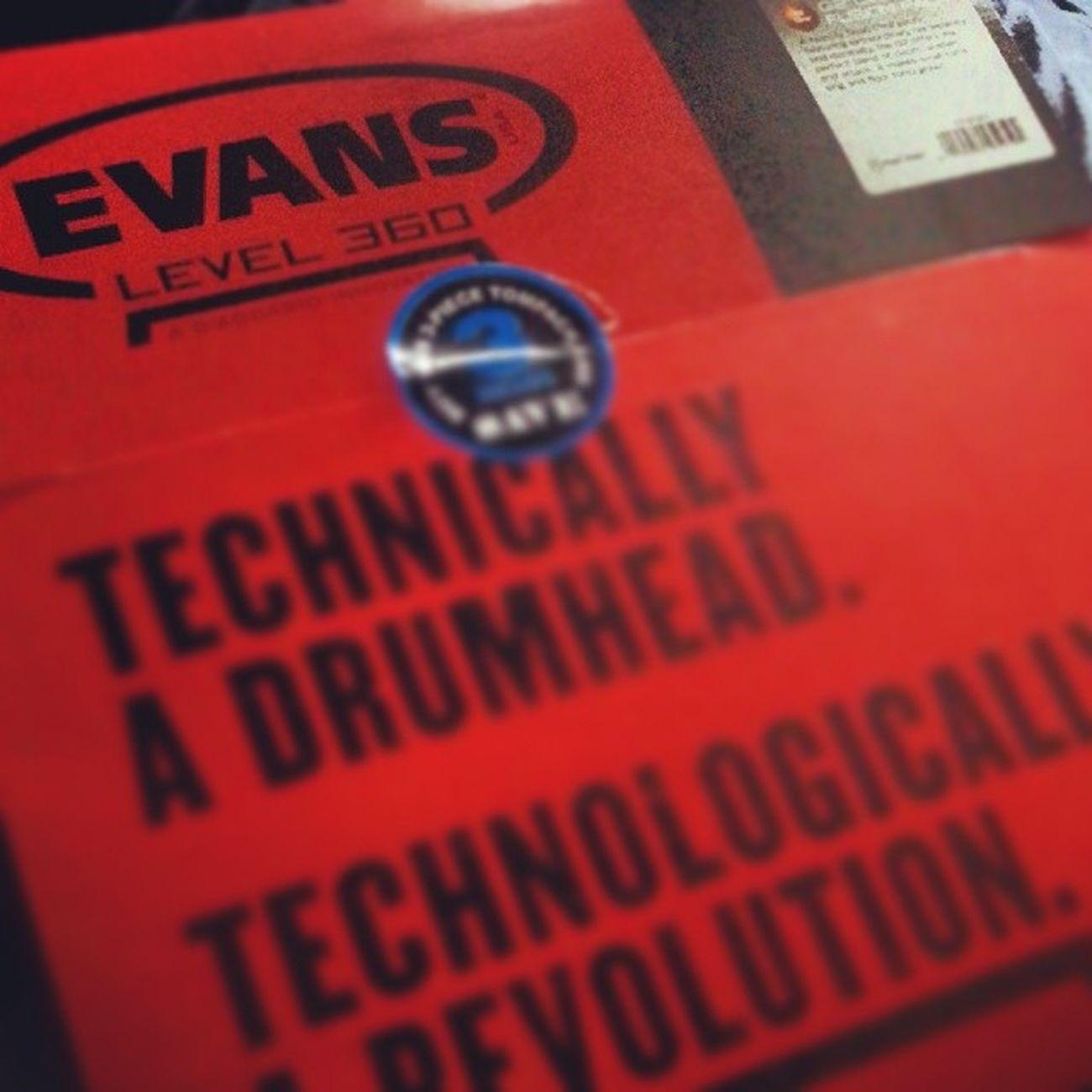 New Drumheads just arrived Evans Drummer4life Drumlife drummer