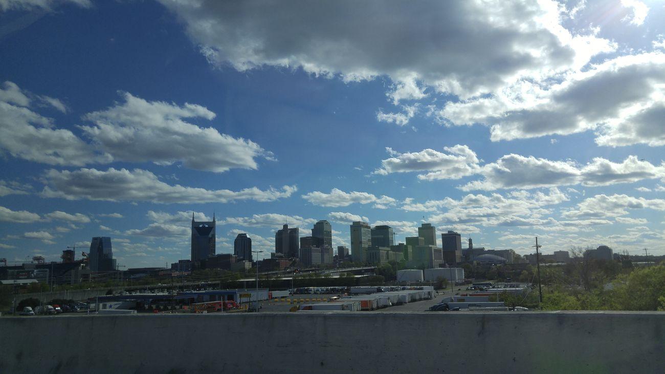 City Stylized Nashville NASHVILLE,TENNESSEE Nashville Skyline Skyline Place Clouds Clouds And Sky