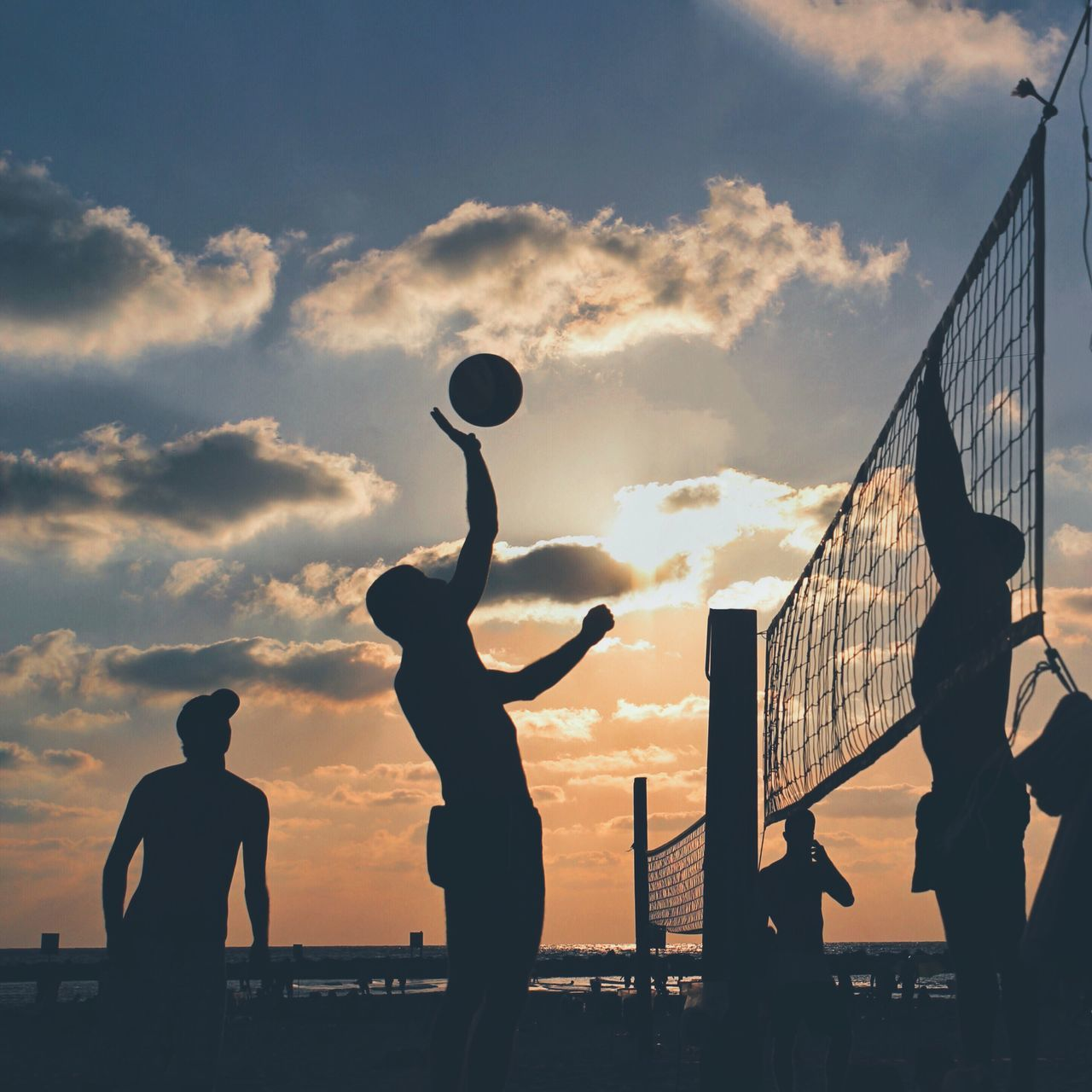 Beautiful stock photos of strand, Beach, Beach Volleyball, Beauty In Nature, Four People