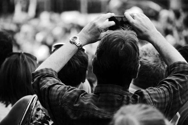 Crowd Taking Pictures Of People Taking Pictures People Backs Of People Facing Away Event Gathering Man Taking Photo Original Experiences Feel The Journey Showcase June Fine Art Photography Eyeemphoto Monochrome Photography Clones, Ireland