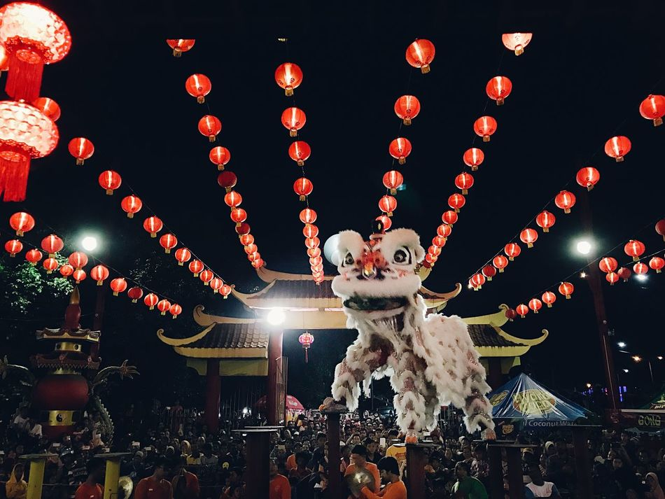 A Cheerful Night of Cap Gomeh Chinese New Year Cultures Lighting Equipment Celebration Chinese Lantern Festival Chinese Lantern Large Group Of Objects No People Night Outdoors Sky EyeEm Best Edits EyeEm Gallery Vscocam EyeEm Best Shots Eye4photography