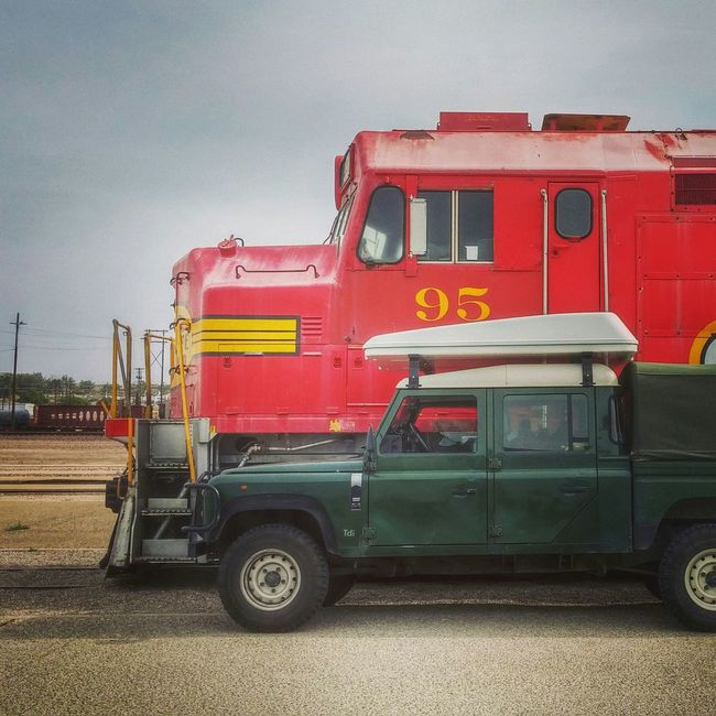 Workhorses Barstow California Land Rover Defender Trains