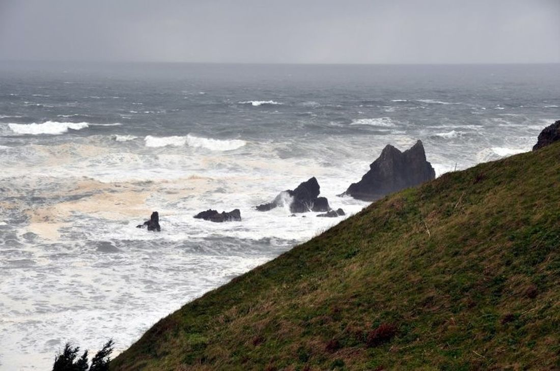The power of the churning sea. Pacific storms. Taking Photos Pacific Ocean Pacific Northwest  Oregon Coast Goonies
