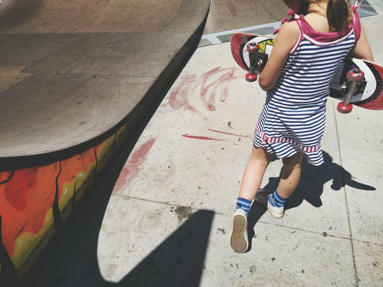 Skateboarder Skatelife Skategirl Childhood Leisure Activity Sunlight Lifestyles Skatepark Skate Park Skill  Sports Training Casual Clothing Dress Miniramp The Street Photographer - 2017 EyeEm Awards