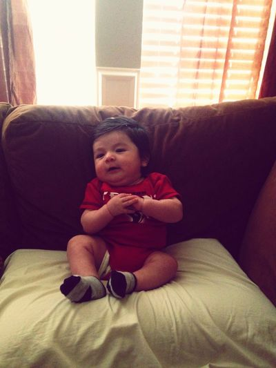 Look mommy I can sit on my own. Babyboy TEXASLOVE MYLOVE<3 Dac