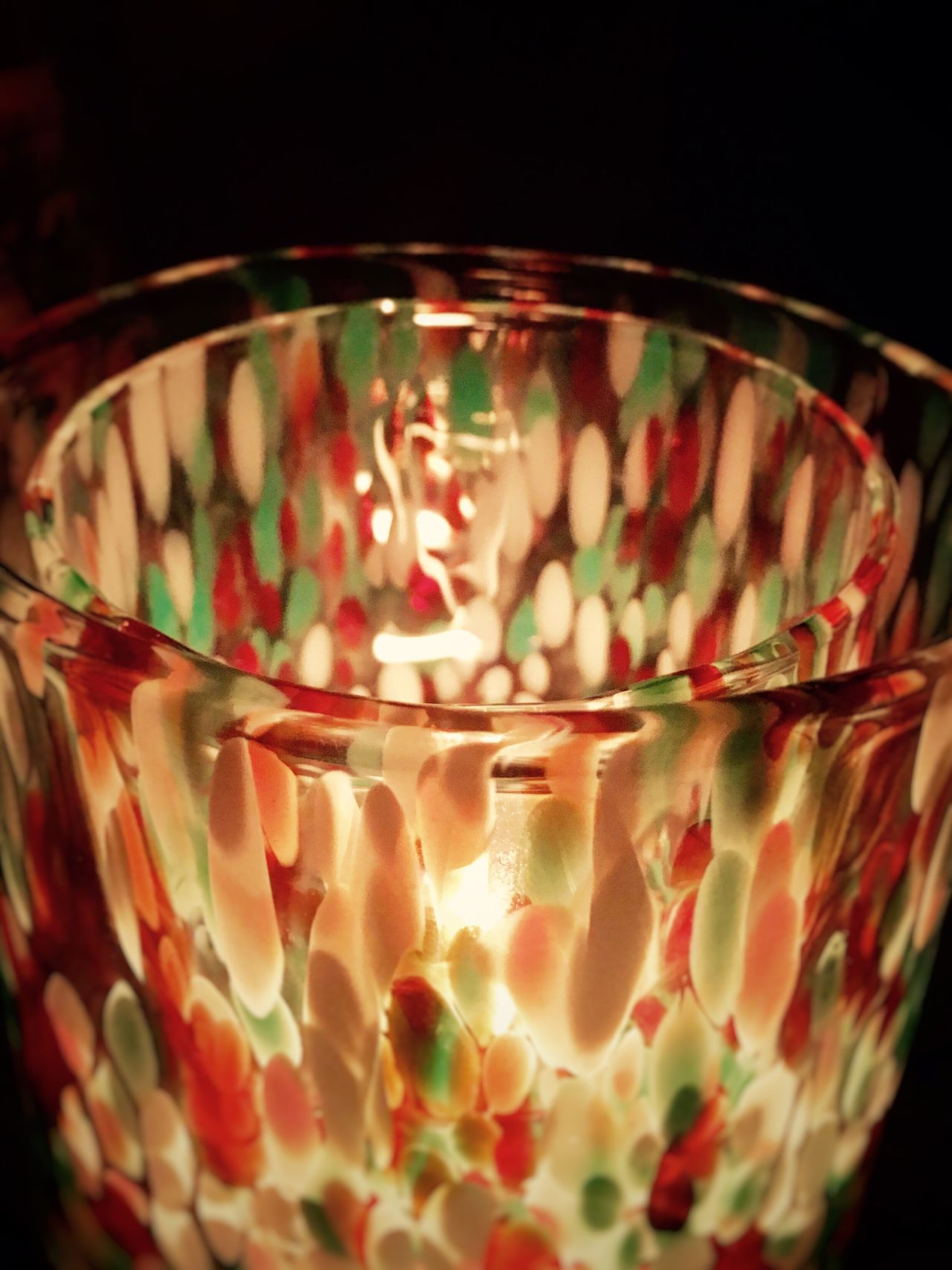 IPhoneography Black Background Close-up No People Indoors  Bowl Heat - Temperature Burning Tea Light