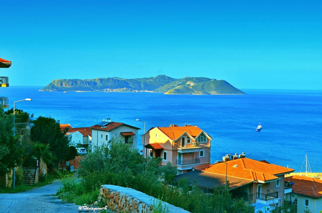 Çerçilerden meis adası manzarası iyi geceler diliyorum selamlar arkadaşlar çerçiler Kas MeisAdası View City