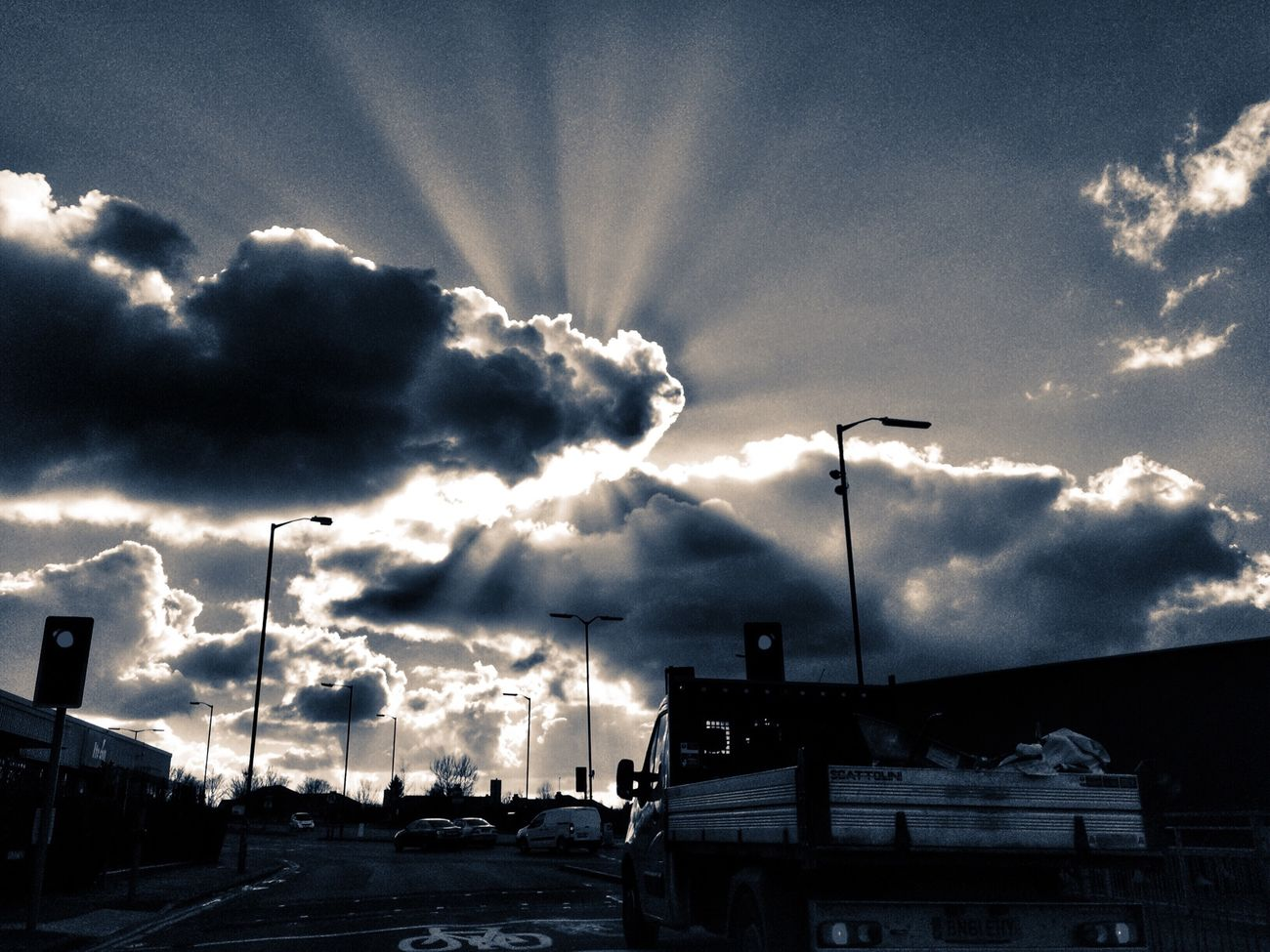 Eye4photography  EyeEm Nature Lover Good Times Sunset Streetphotography HDR WOW Black & White Sunset #sun #clouds #skylovers #sky #nature #beautifulinnature #naturalbeauty #photography #landscape Eye4photography