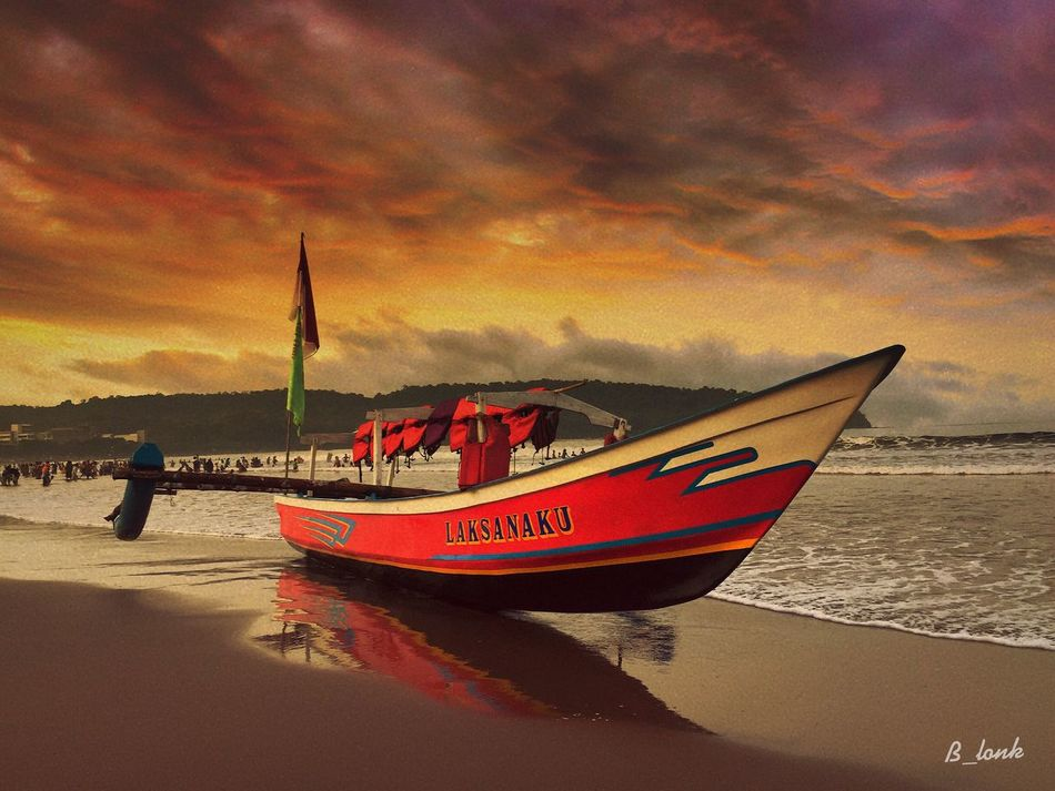 Beach boat sand . . . Sunset Cloud - Sky Boat Beach IPhoneographer Beautiful Sunset Clouds And Sky IPhone Photography Eye4photography  Wonderful Indonesia EyeEm Indonesia EyeEm Best Shots Indonesia_allshots Sunset Silhouettes Sky Sunsets INDONESIA