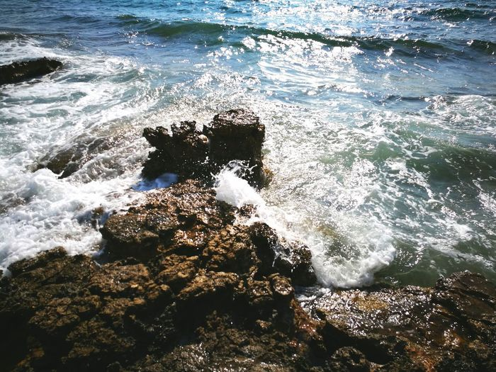 Water Sea Nature Day Sunlight High Angle View No People Outdoors Wave Beach Beauty In Nature Close-up Lifestyles
