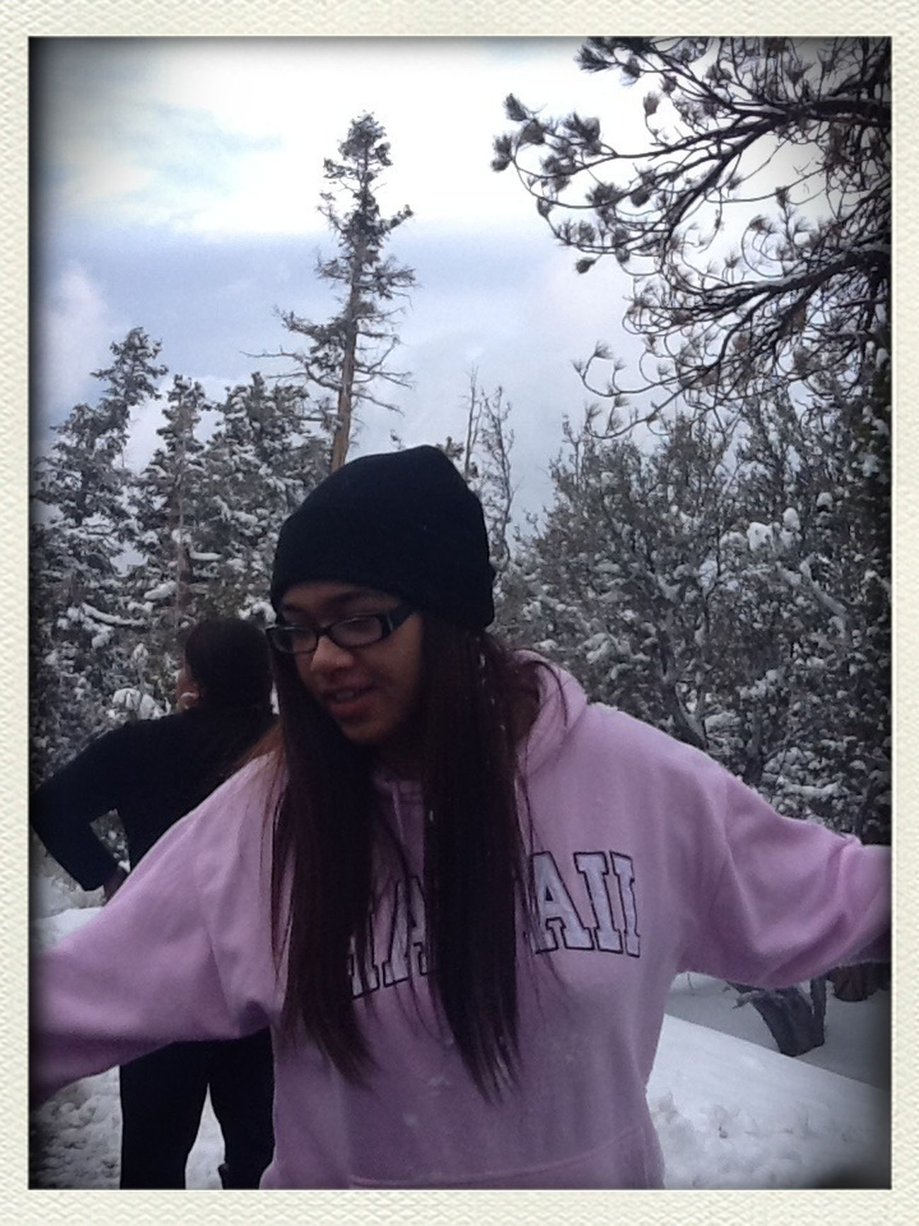 Acting A Fool During A SnowBall Fight