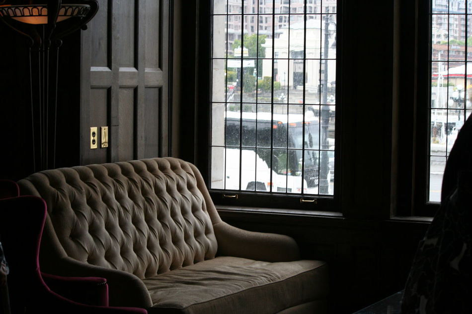 Absence Chair Close-up Curtain Day Domestic Room Empty Focus On Foreground Furniture Relaxation Seat The Empress The Fairmont Empress Hotel Window