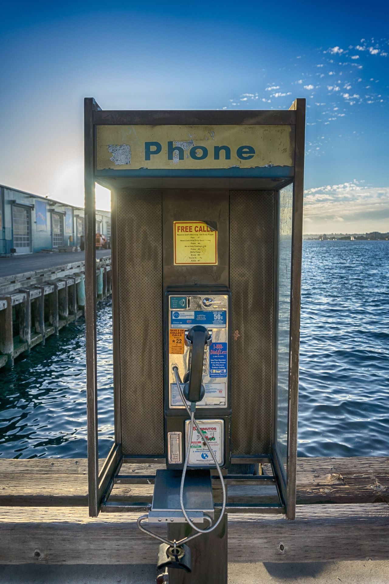 Text Communication Water Pier Sky Outdoors Day Nature No People Beauty In Nature Telephone Phone Photography Calling Bay Travel Destinations USAtrip USA On The Road San Diego California Dreaming California Love