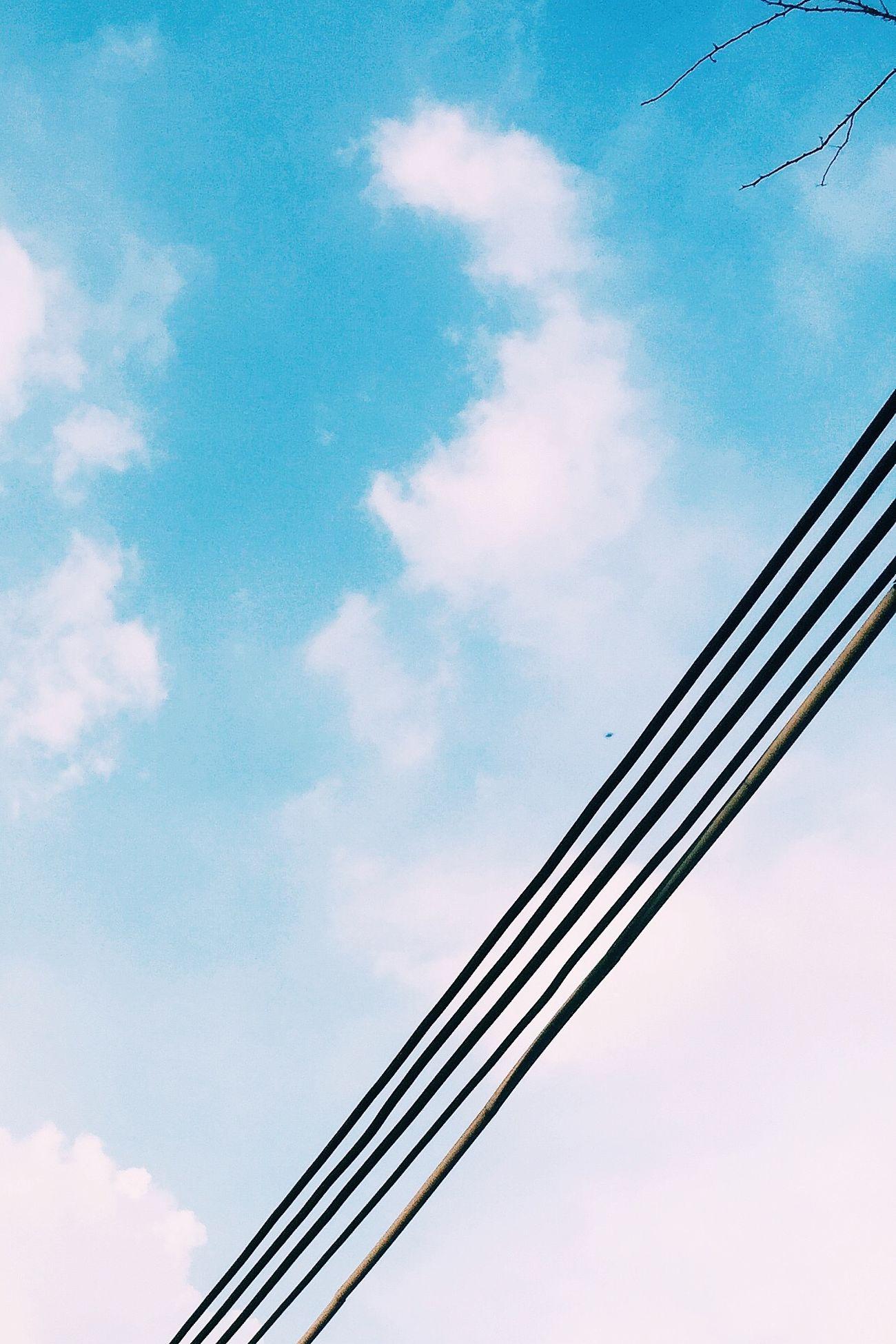 手机摄影 电线 广州 天空 蓝天