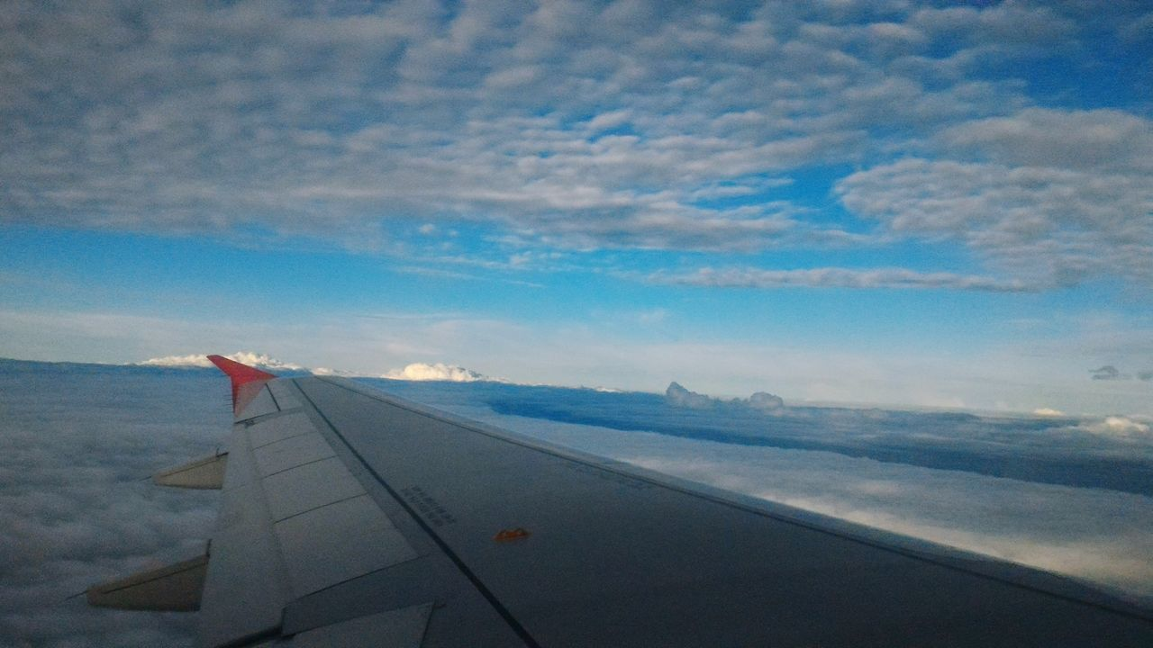 airplane, transportation, airplane wing, sky, journey, air vehicle, flying, travel, aerial view, aircraft wing, no people, cloud - sky, nature, outdoors, commercial airplane, day