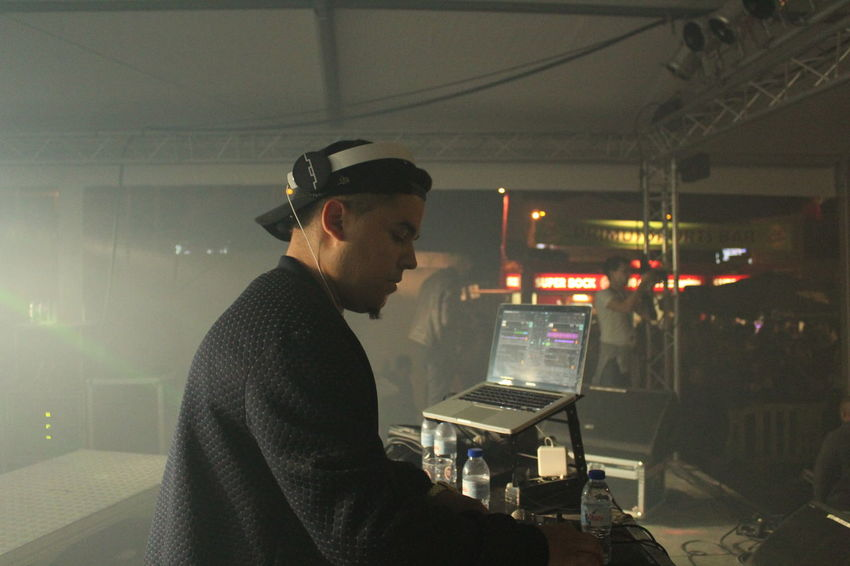 Dj Illuminated Lights Music Music Festival Night Performance Performance Group Smile Technology
